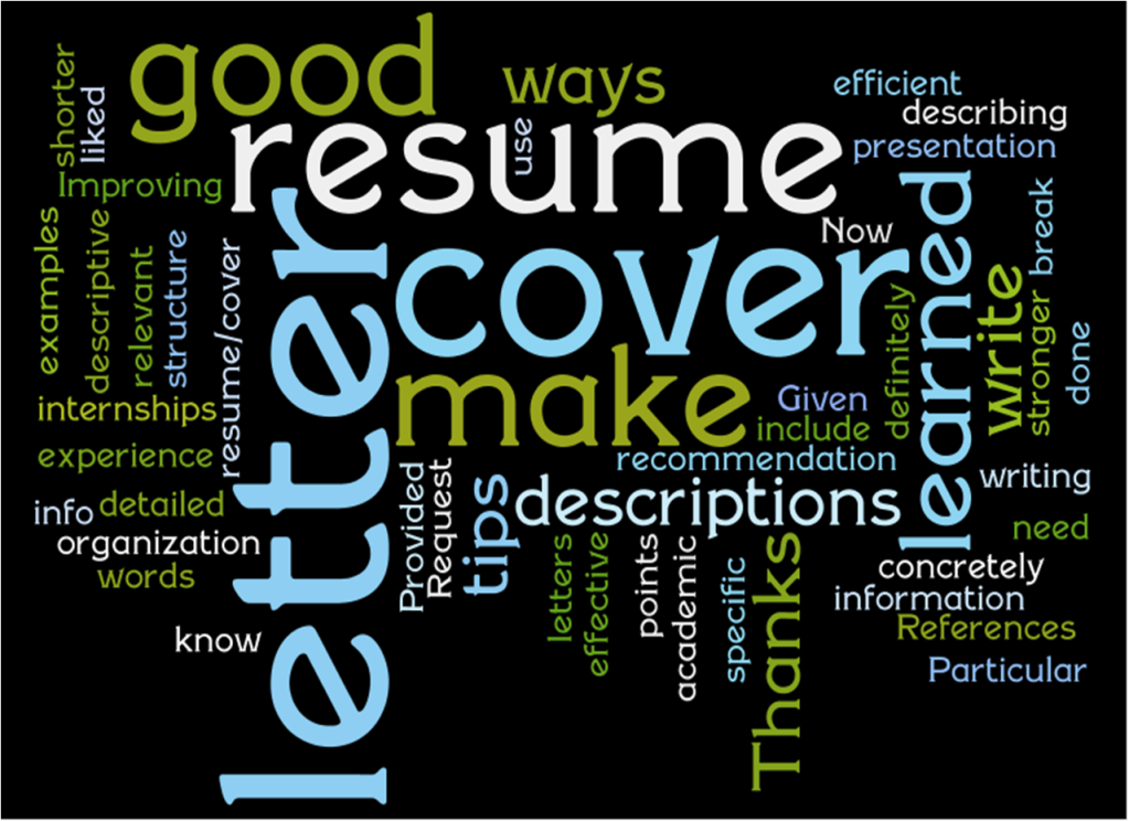resume and cover letter workshop Augusta university writing consultants present on the latest trends in resume design and cover-letter writing, followed by individualized instruction on revising job.