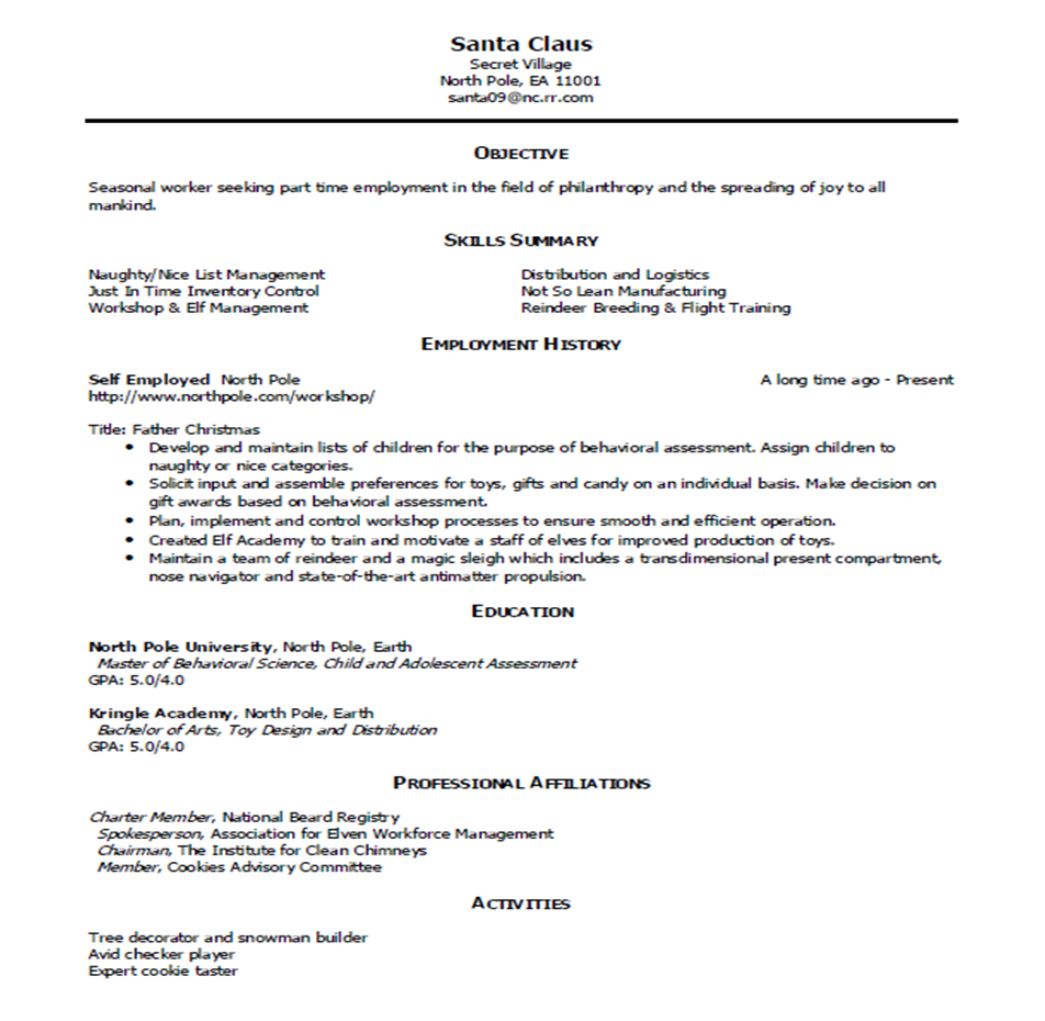 Sample Resume and Simple Critique « My Career Advisor My Career ...
