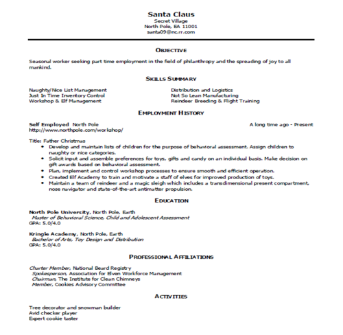 Sample Resume And Simple Critique « My Career Advisor My Career